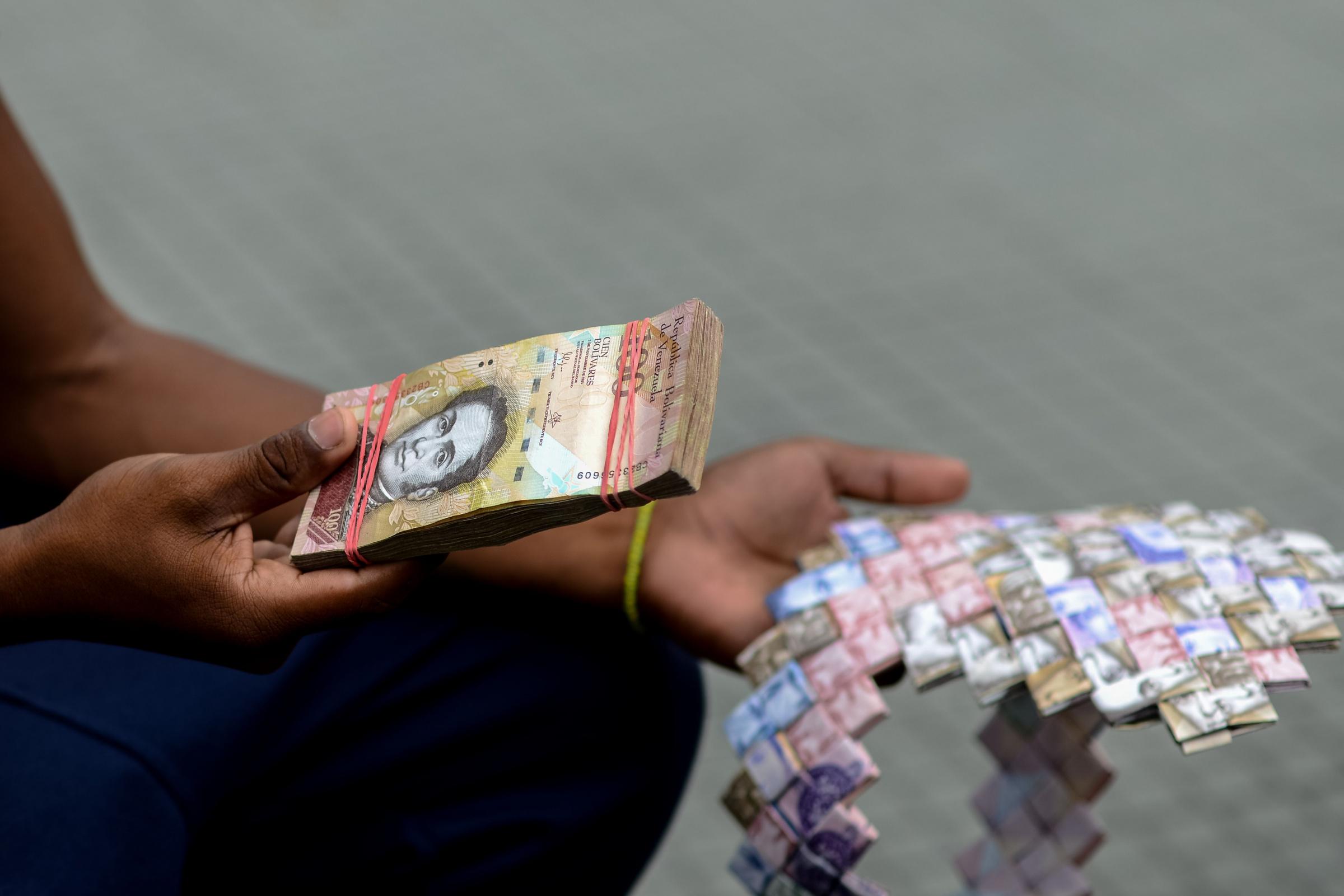 Venezuela kriis ja inflatsioon. Foto: AFP PHOTO / FEDERICO PARRA