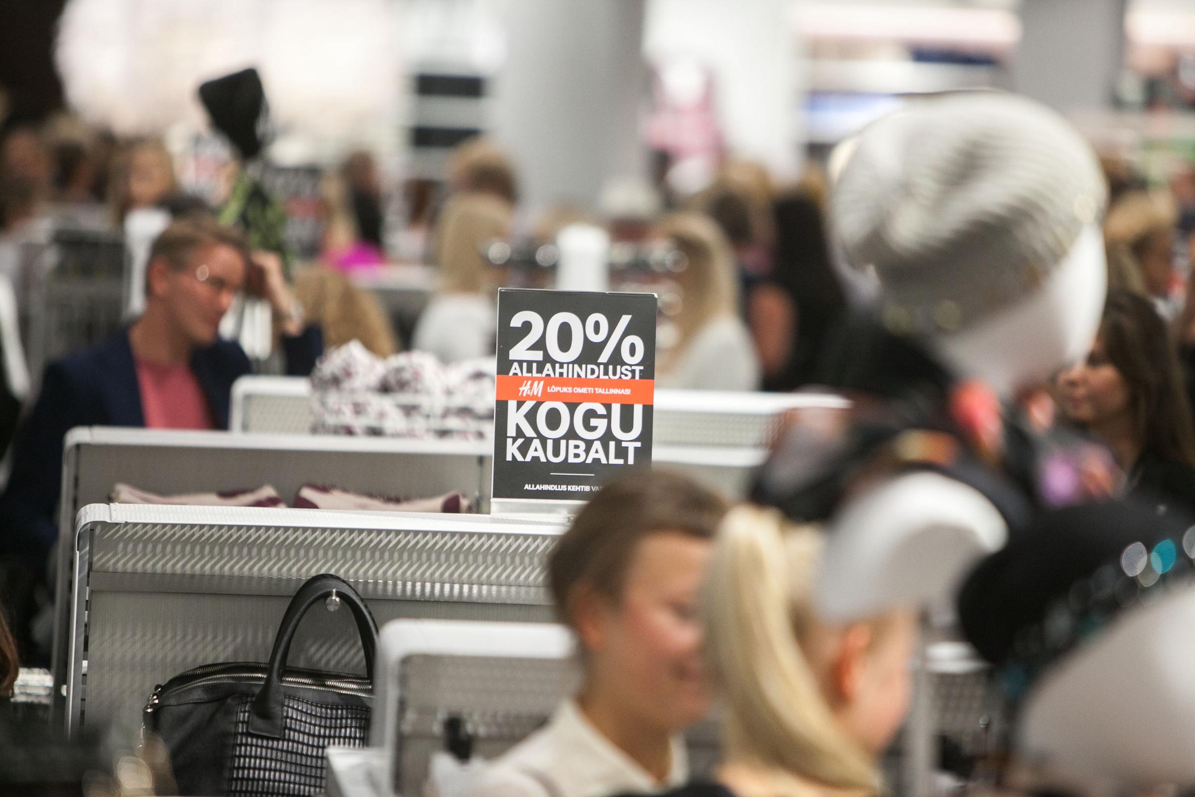 H&M Eesti, Hennes & Mauriz. Foto: TOOMAS TATAR/POSTIMEES/SCANPIX