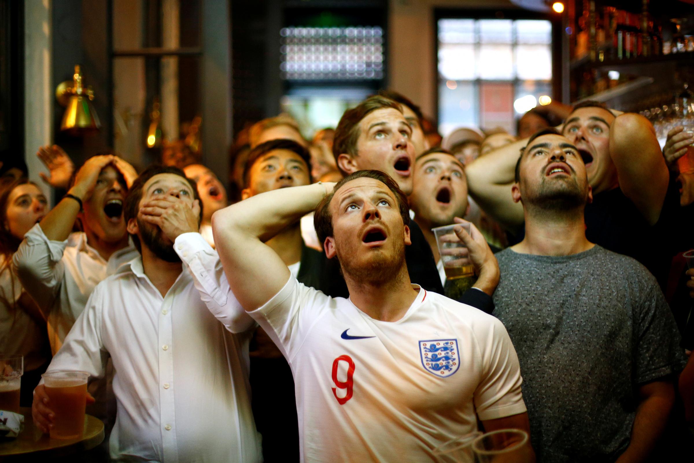 Inglismaa jalgpallifännid. Foto: REUTERS/Henry Nicholls